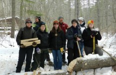 I've been splitting firewood for thirty years; it was time to learn new ax skills. {photo: Deborah Lee Luskin, EasternSlopes.com]