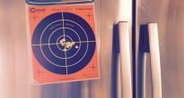 I've posted my best target on my refrigerator door.