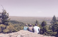 On top of Haystack Mountain on Memorial Day, it was clear, and we had 180-degree views. (Deborah Lee Luskin/EasternSlopes.com)