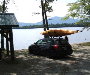 Our plan was to drive to a launch on Flagstaff Lake and, weather permitting, paddle about three miles to Flagstaff Lake Hut. (Easternslopes.com)