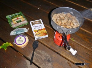 Quick backpacking dinner