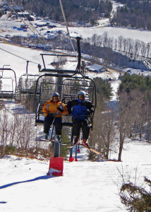 Blues skies are rare at any ski area, but empty slopes are common at Black Mountain in Jackson New Hampshire. (EasternSlopes.com)