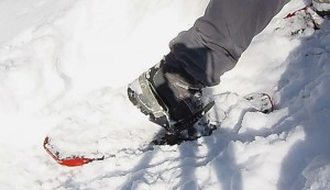 Enough fore-aft flexibility combined with side-to-side stiffness makes the Bugaboot Plus II an excellent backcountry snowshoe boot. (EasternSlopes.com)
