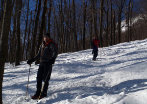 The aptly-named Thunderbolt Ski Trail, which slashes down the eastern slopes of Greylock is very steep in spots, but provides the shortest, most direct route to the summit. (Tim Jones/EasternSlopes.com)