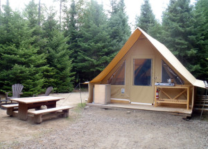 "Huttopia: This ""Huttopia"" in the Baie Ste. Margurite sector of Saguenay Fjord National Park was our comfortable home for two nights. (EasternSlopes.com)"