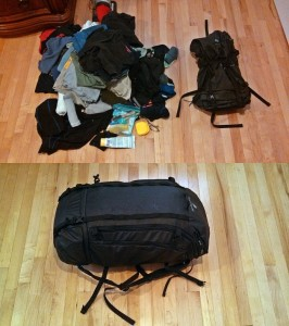 Eagle Creek Go Duffel 60L empty and full
