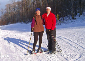 The Uphill Travel policy at ski areas often applies to snowshoers as well as skiers and snowboarders. (EasternSlopes.com photo)