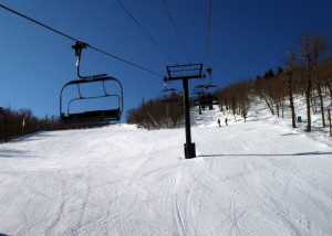 "There's a good reason they call this face of Mount Sunapee ""The Sunbowl."" The new detachable high speed Sunbowl quad eliminates liftlines and cuts your commute time so you can enjoy more runs. (EasternSlopes.com)"