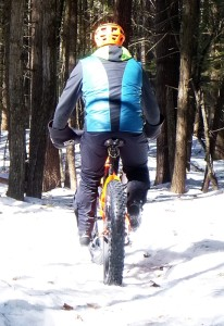 Patrick fatbiking in woods