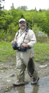 Jim Riccardi at Little Diamond Pond. (Deborah Lee Luskin/EasternSlopes.com)
