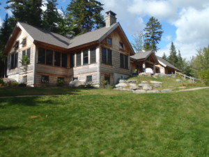 Hard to believe this luxurious retreat is on a remote wilderness lake, miles from anything! (EasternSlopes.com)