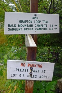 Grafton Trail Loop signs