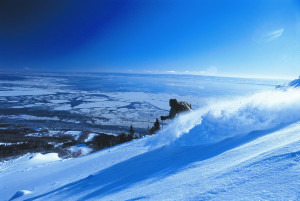 Abundant snow, pitches for all abilities and amazing views dominate this easy to get to Quebec resort. (Le Massif photo)
